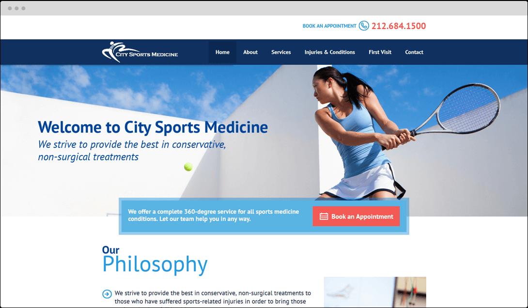 City Sports Medicine Web