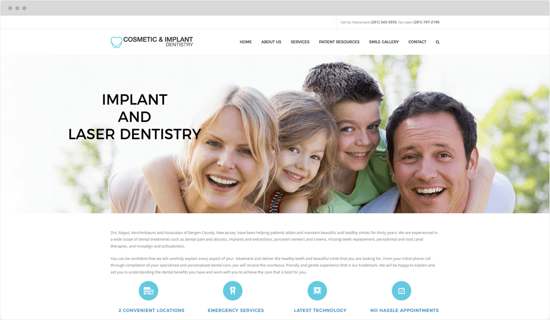 Cosmetic & Implant Dentistry Web