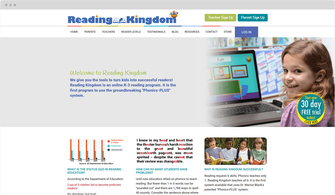 Reading Kingdom Web